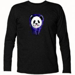Футболка с длинным рукавом Panda on a watercolor stain