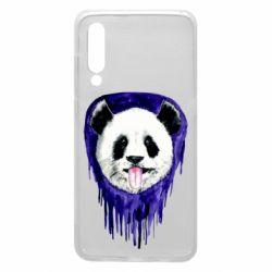 Чехол для Xiaomi Mi9 Panda on a watercolor stain