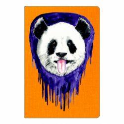 Блокнот А5 Panda on a watercolor stain