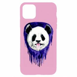 Чехол для iPhone 11 Panda on a watercolor stain