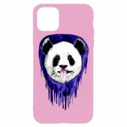 Чехол для iPhone 11 Pro Panda on a watercolor stain