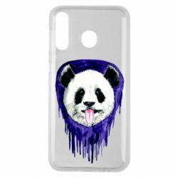 Чехол для Samsung M30 Panda on a watercolor stain