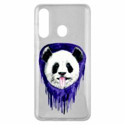 Чехол для Samsung M40 Panda on a watercolor stain