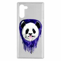 Чехол для Samsung Note 10 Panda on a watercolor stain