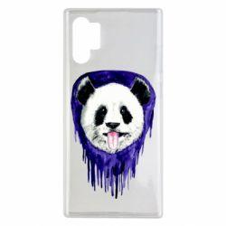Чехол для Samsung Note 10 Plus Panda on a watercolor stain