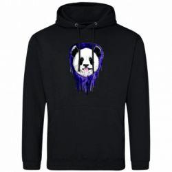 Мужская толстовка Panda on a watercolor stain