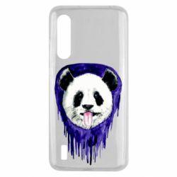 Чехол для Xiaomi Mi9 Lite Panda on a watercolor stain