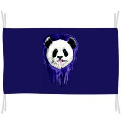 Флаг Panda on a watercolor stain