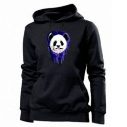 Женская толстовка Panda on a watercolor stain