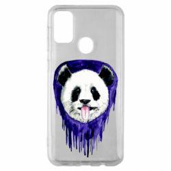 Чехол для Samsung M30s Panda on a watercolor stain
