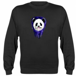 Реглан (свитшот) Panda on a watercolor stain