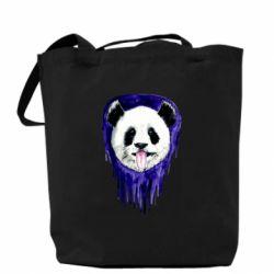 Сумка Panda on a watercolor stain