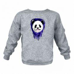 Детский реглан (свитшот) Panda on a watercolor stain