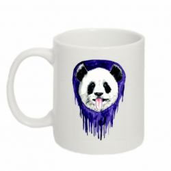Кружка 320ml Panda on a watercolor stain
