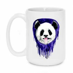 Кружка 420ml Panda on a watercolor stain