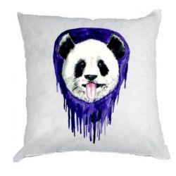 Подушка Panda on a watercolor stain
