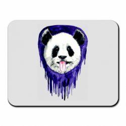 Коврик для мыши Panda on a watercolor stain