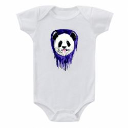 Детский бодик Panda on a watercolor stain