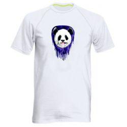 Мужская спортивная футболка Panda on a watercolor stain