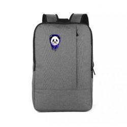 Рюкзак для ноутбука Panda on a watercolor stain
