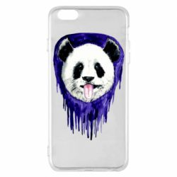 Чехол для iPhone 6 Plus/6S Plus Panda on a watercolor stain
