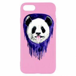 Чехол для iPhone 7 Panda on a watercolor stain