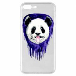 Чехол для iPhone 7 Plus Panda on a watercolor stain