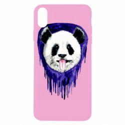 Чехол для iPhone X/Xs Panda on a watercolor stain