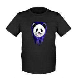 Детская футболка Panda on a watercolor stain