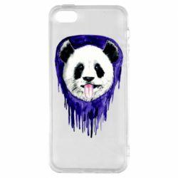 Чехол для iPhone5/5S/SE Panda on a watercolor stain