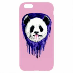 Чехол для iPhone 6/6S Panda on a watercolor stain