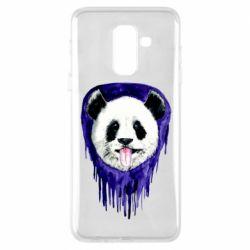 Чехол для Samsung A6+ 2018 Panda on a watercolor stain