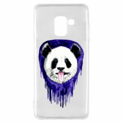 Чехол для Samsung A8 2018 Panda on a watercolor stain