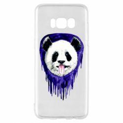 Чехол для Samsung S8 Panda on a watercolor stain