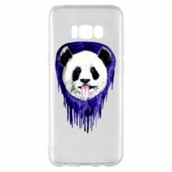 Чехол для Samsung S8+ Panda on a watercolor stain