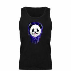 Мужская майка Panda on a watercolor stain