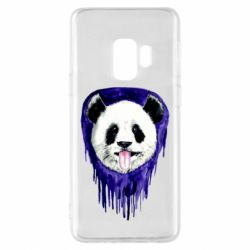 Чехол для Samsung S9 Panda on a watercolor stain