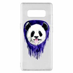 Чехол для Samsung Note 8 Panda on a watercolor stain