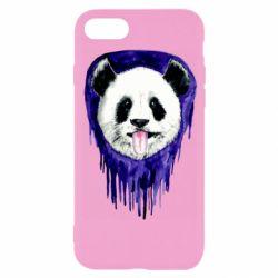 Чехол для iPhone 8 Panda on a watercolor stain