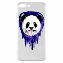 Чехол для iPhone 8 Plus Panda on a watercolor stain