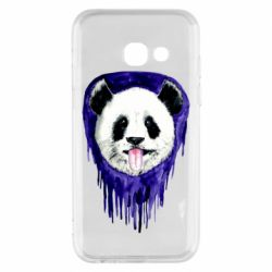 Чехол для Samsung A3 2017 Panda on a watercolor stain