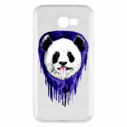 Чехол для Samsung A7 2017 Panda on a watercolor stain