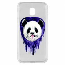 Чехол для Samsung J3 2017 Panda on a watercolor stain