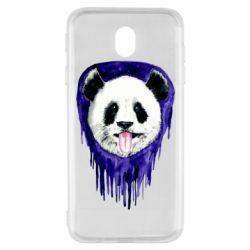 Чехол для Samsung J7 2017 Panda on a watercolor stain