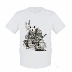 Дитяча футболка Панда самурай