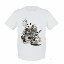 Детская футболка Панда самурай