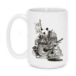 Кружка 420ml Панда самурай