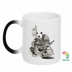 Кружка-хамелеон Панда самурай