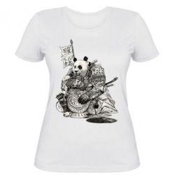 Женская футболка Панда самурай