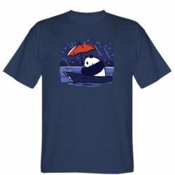 Мужская футболка Panda and rain